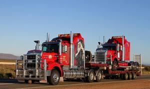 Gray's Transport two trucks